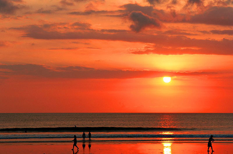 Sunset on Kuta Beach, Bali